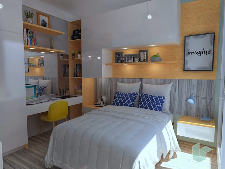 Master room, Dormitorio principal con patio interno: Cuartos pequeños  de estilo  por LS Arquitectura, diseño y acústica