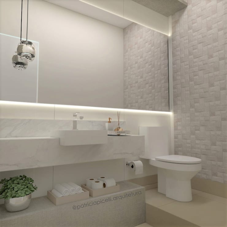 Baños de estilo  por Patricia Picelli Arquitetura e Interiores