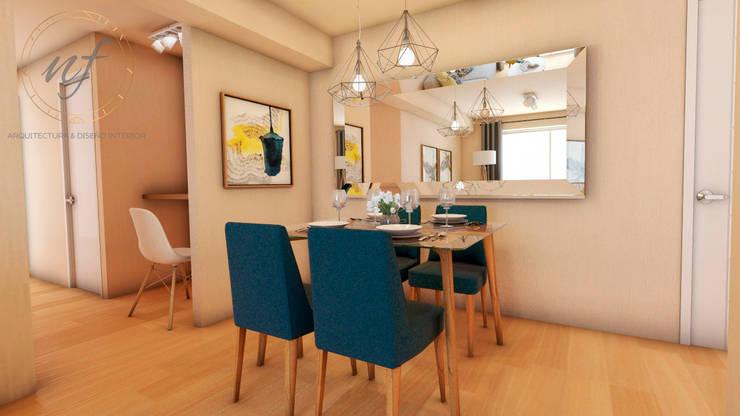 PROYECTO EXCELLENCE - COMEDOR : Comedores de estilo  por NF Diseño de Interiores
