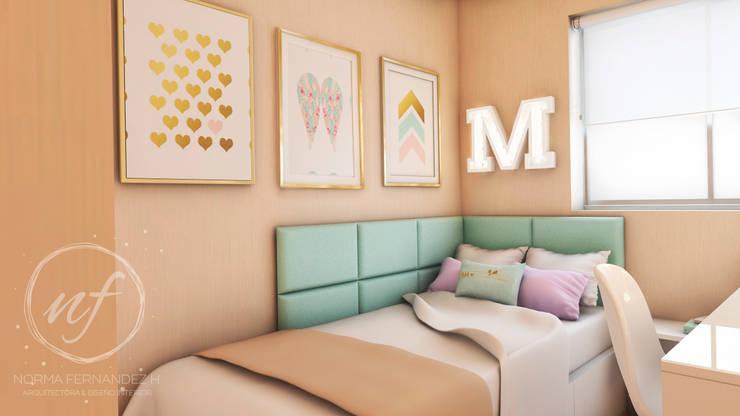 PROYECTO EXCELLENCE - DORMITORIO JUVENIL: Cuartos pequeños  de estilo  por NF Diseño de Interiores