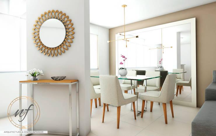 PROYECTO RESIDENCIAL  ANIA - COMEDOR : Comedores de estilo  por NF Diseño de Interiores , Moderno