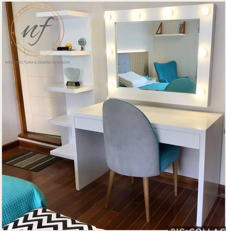 Tocador: Dormitorios de estilo  por NF Diseño de Interiores