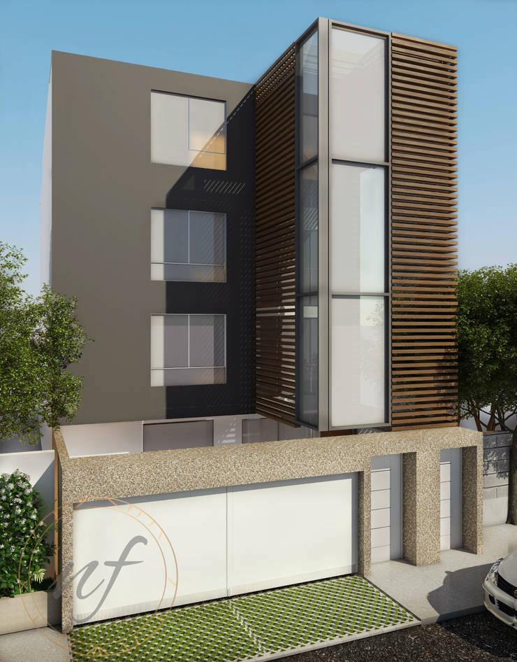 PROYECTO MULTIFAMILIAR : Casas de estilo  por NF Diseño de Interiores , Moderno