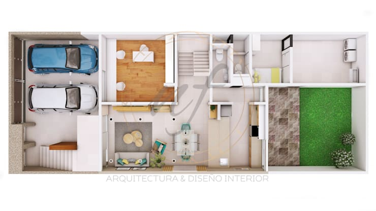 PROYECTO MULTIFAMILIAR :  de estilo  por NF Diseño de Interiores