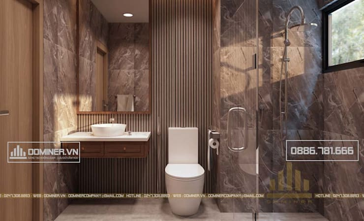 Phòng vệ sinh:   by Thiết kế - Nội thất - Dominer