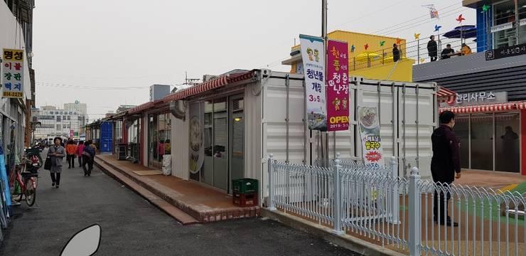 현풍 백년도깨비 청년몰: TCS (티씨에스)의  사무실 공간 & 가게,