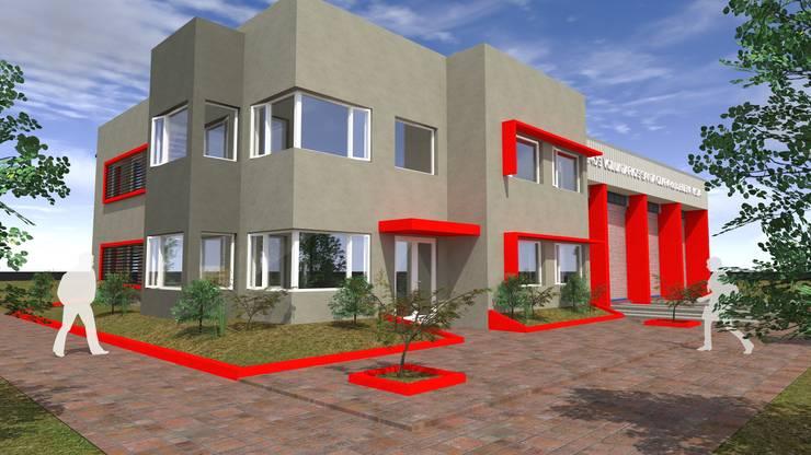 Cuartel de Bomberos Santa Clara de Buena Vista: Casas de estilo  por Arquitecto Emiliano Quintero,