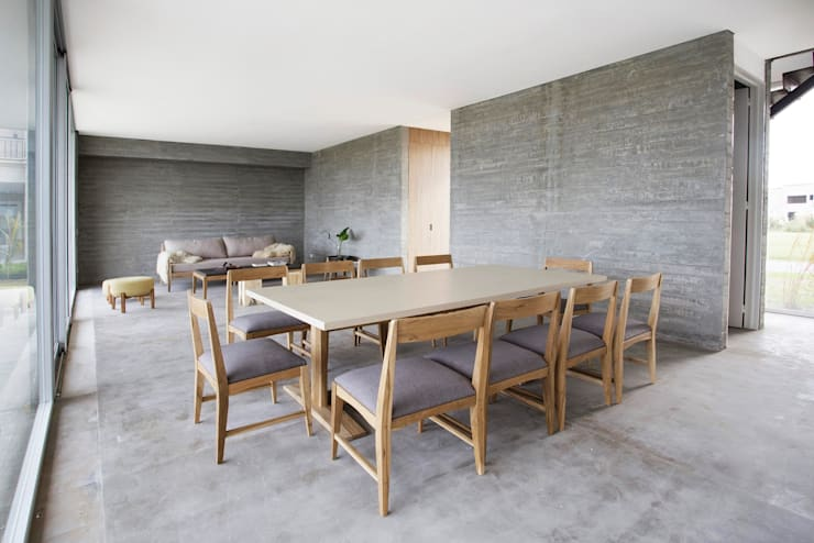 Living comedor en casa de BAM arquitectura sustentable: Comedores de estilo  por LAS MARINAS,