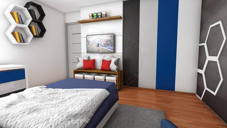 PROYECTO ARREDONDO: Dormitorios de estilo  por NF Diseño de Interiores , Moderno