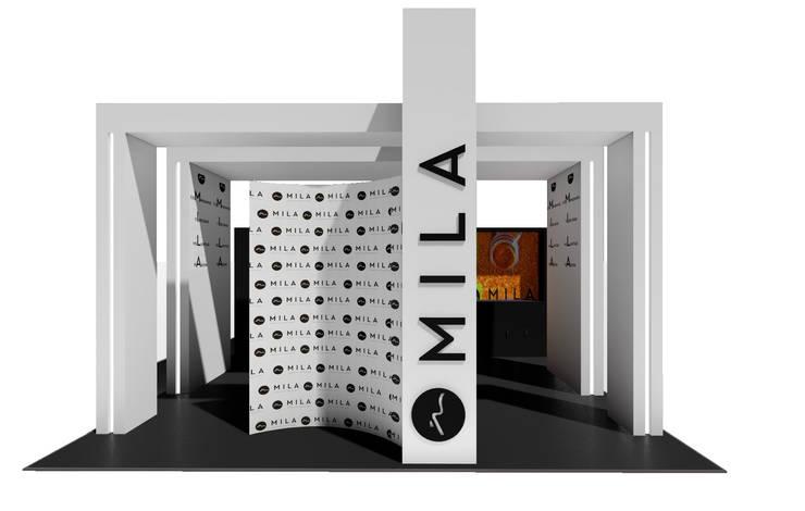 Stand Mila Dex - Expoestética :  de estilo  por Luis Barberis Arquitectos,