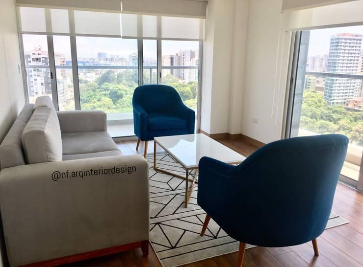 Salon de style  par NF Diseño de Interiores , Moderne