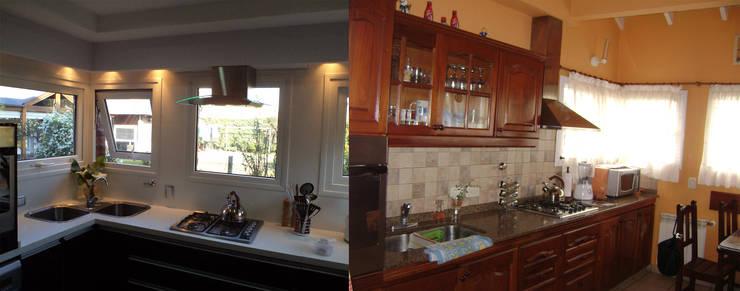 Casa PSM: Cocinas a medida  de estilo  por Luis Barberis Arquitectos,