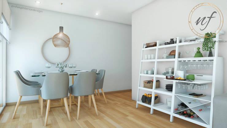 Salle à manger de style  par NF Diseño de Interiores , Moderne