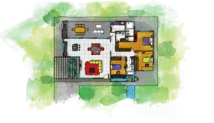 Casa Lumar3: Casas unifamiliares de estilo  por Luis Barberis Arquitectos,
