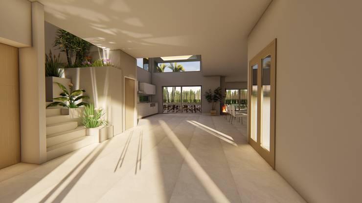 Casa AZT: Pasillos y recibidores de estilo  por Luis Barberis Arquitectos,