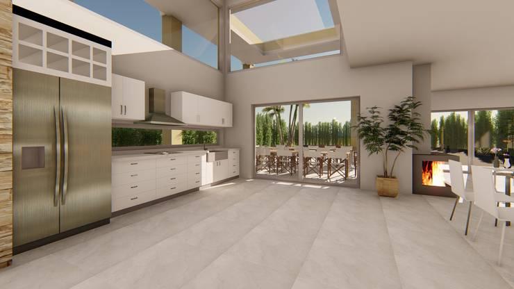 Casa AZT: Cocinas a medida  de estilo  por Luis Barberis Arquitectos,