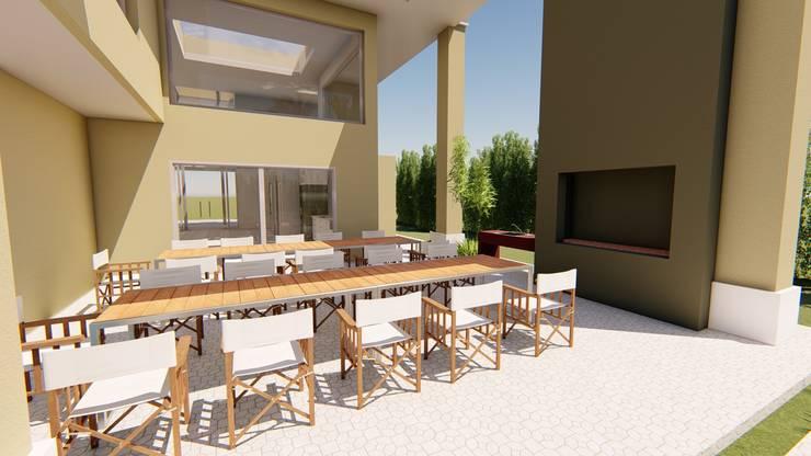 Casa AZT: Comedores de estilo  por Luis Barberis Arquitectos,