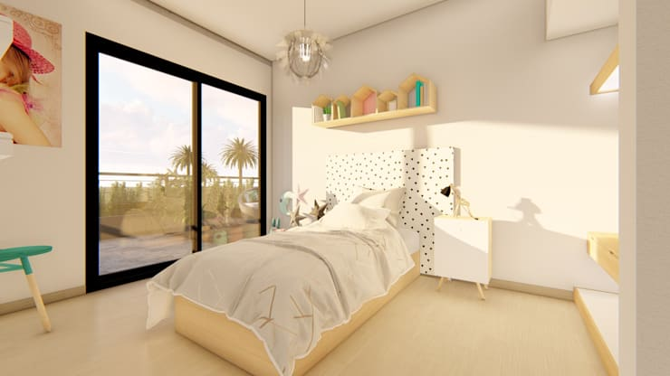 Girls Bedroom by Luis Barberis Arquitectos, Minimalist