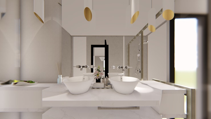 Bathroom by Luis Barberis Arquitectos, Minimalist