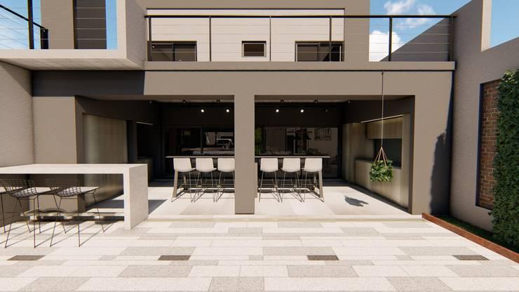 Casa GLVU: Casas de estilo  por Luis Barberis Arquitectos,