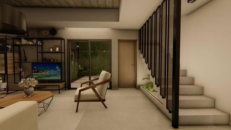 Casa GLVU: Escaleras de estilo  por Luis Barberis Arquitectos,