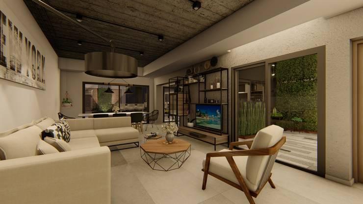 Casa GLVU: Livings de estilo  por Luis Barberis Arquitectos,