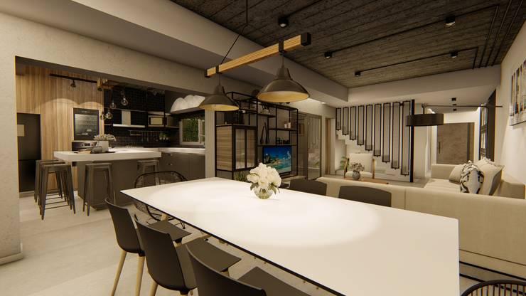 Casa GLVU: Comedores de estilo  por Luis Barberis Arquitectos,