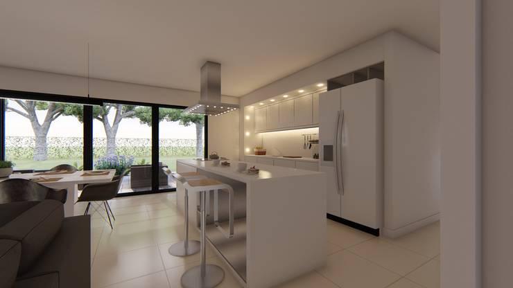 Casa MPSA: Cocinas de estilo  por Luis Barberis Arquitectos,