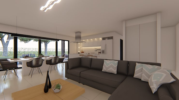 Casa MPSA: Livings de estilo  por Luis Barberis Arquitectos,