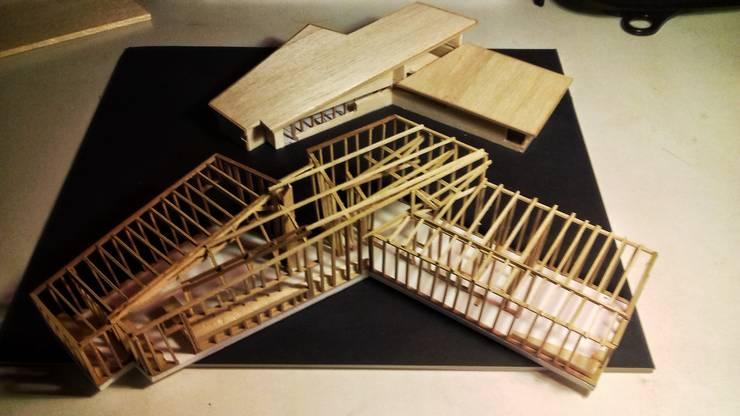 Maqueta de Propuesta: Estudios y biblioteca de estilo  por Intermedio Arquitectos
