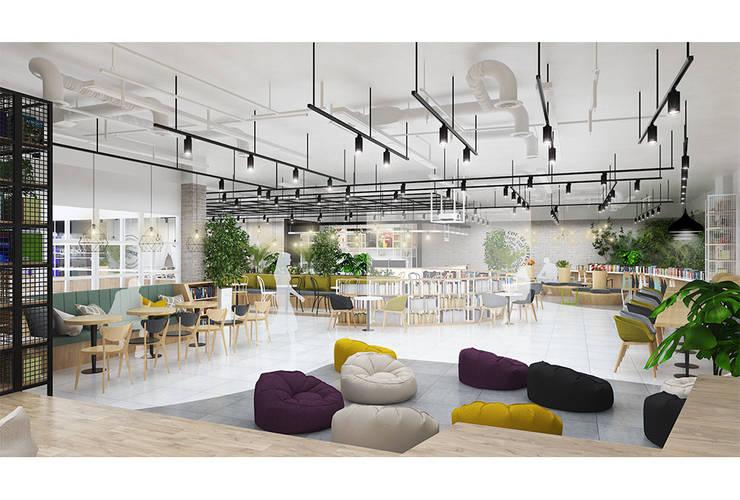 북카페: DB DESIGN Co., LTD.의  바 & 카페,