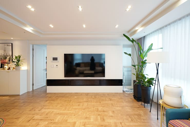 Living room by 디자인 아버