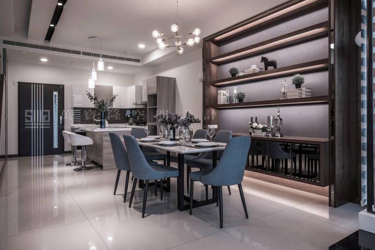 良勳建設/蕾夢湖-富麗古典:  餐廳 by SING萬寶隆空間設計