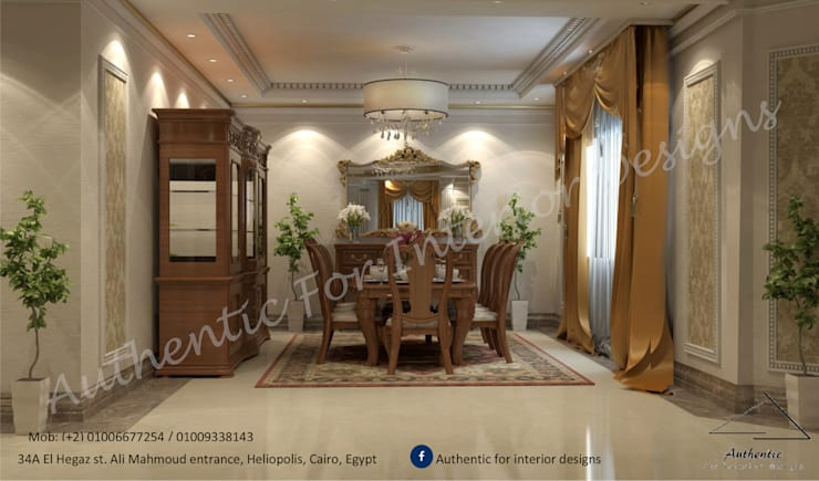 Dining room by Authentic for interior designs,