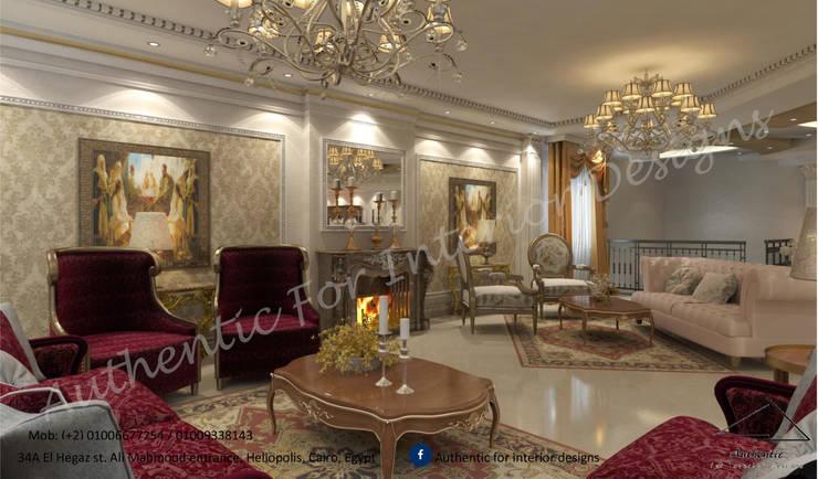 التجمع الاول:  غرفة المعيشة تنفيذ Authentic for interior designs, كلاسيكي