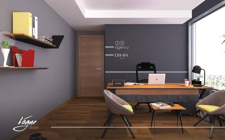 مكتب مدير:  Office spaces & stores  تنفيذ Vogue Design