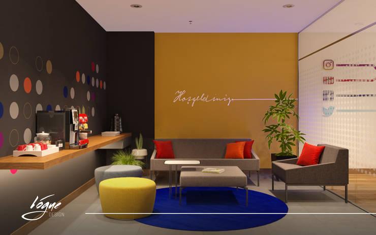 منطقة استقبال:  Office spaces & stores  تنفيذ Vogue Design