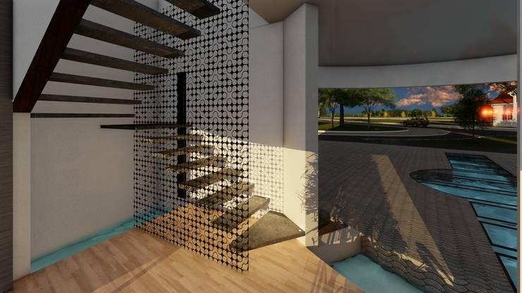 Casa GT: Escaleras de estilo  por Luis Barberis Arquitectos,