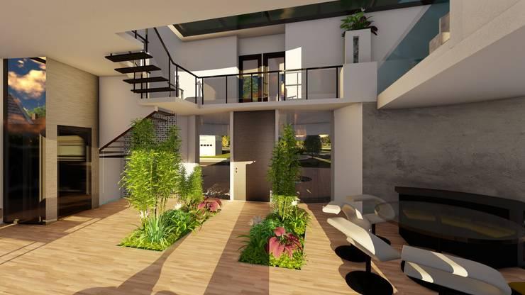 Casa GT: Pasillos y recibidores de estilo  por Luis Barberis Arquitectos,
