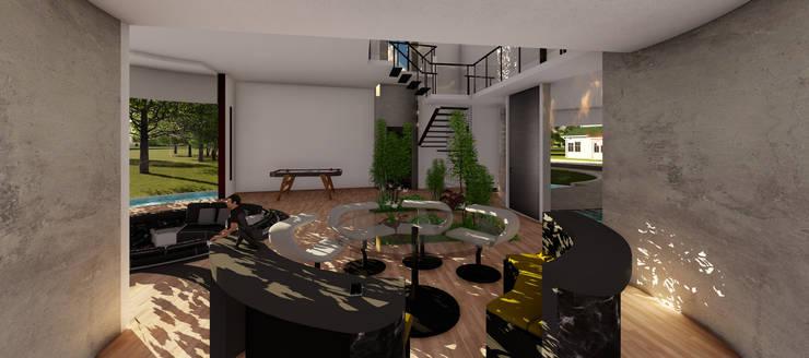 Casa GT: Livings de estilo  por Luis Barberis Arquitectos,