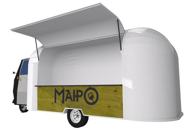 Carro de Comida (Food Truck):  de estilo  por Constructora Las Condes