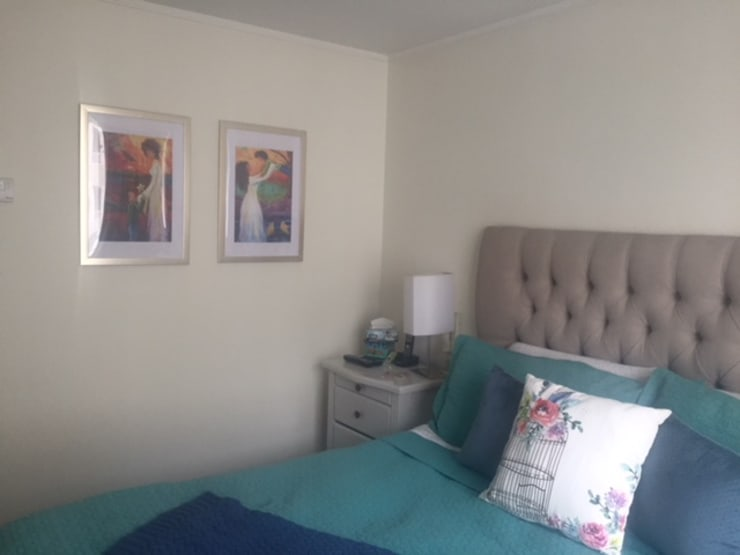 Departamento Jaime Guzman, Providencia: Dormitorios de estilo  por Agapanto
