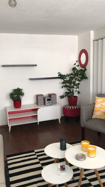 Departamento Villaseca, Ñuñoa: Livings de estilo  por Agapanto