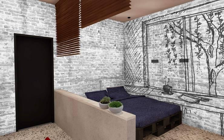 LOVIN' LOFT: Habitaciones de estilo  por BICHO arquitectura, Minimalista