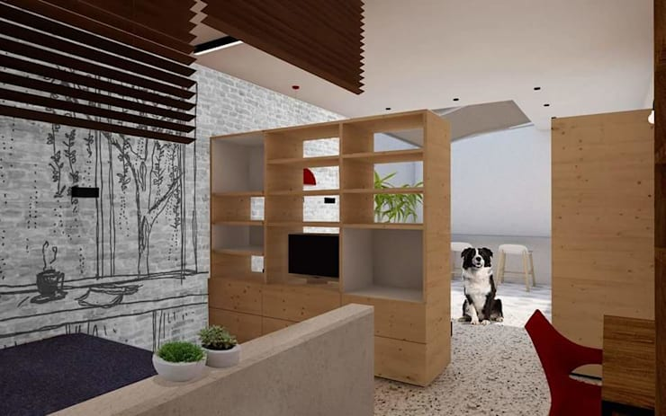 LOVIN' LOFT: Salas de estilo  por BICHO arquitectura, Minimalista