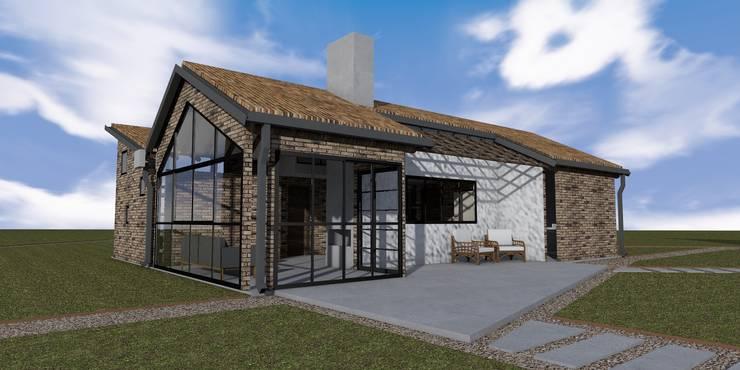 CASA TRES AGUAS: Casas de estilo  por BICHO arquitectura