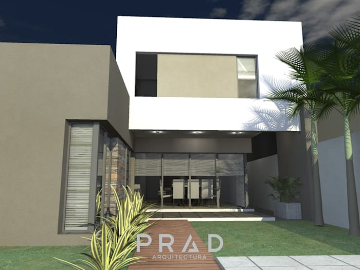 Vivienda M.Q: Casas unifamiliares de estilo  por PRAD Arquitectura,