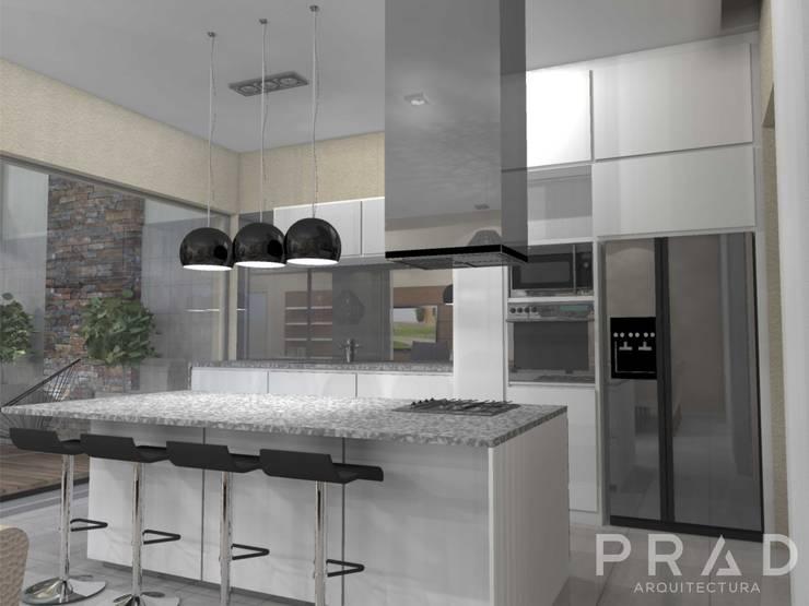 Vivienda S.O: Cocinas de estilo  por PRAD Arquitectura,