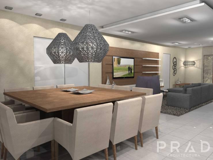 Vivienda S.O: Comedores de estilo  por PRAD Arquitectura,