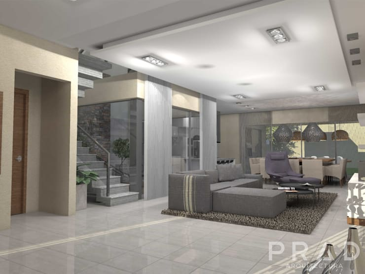 Vivienda S.O: Livings de estilo  por PRAD Arquitectura,